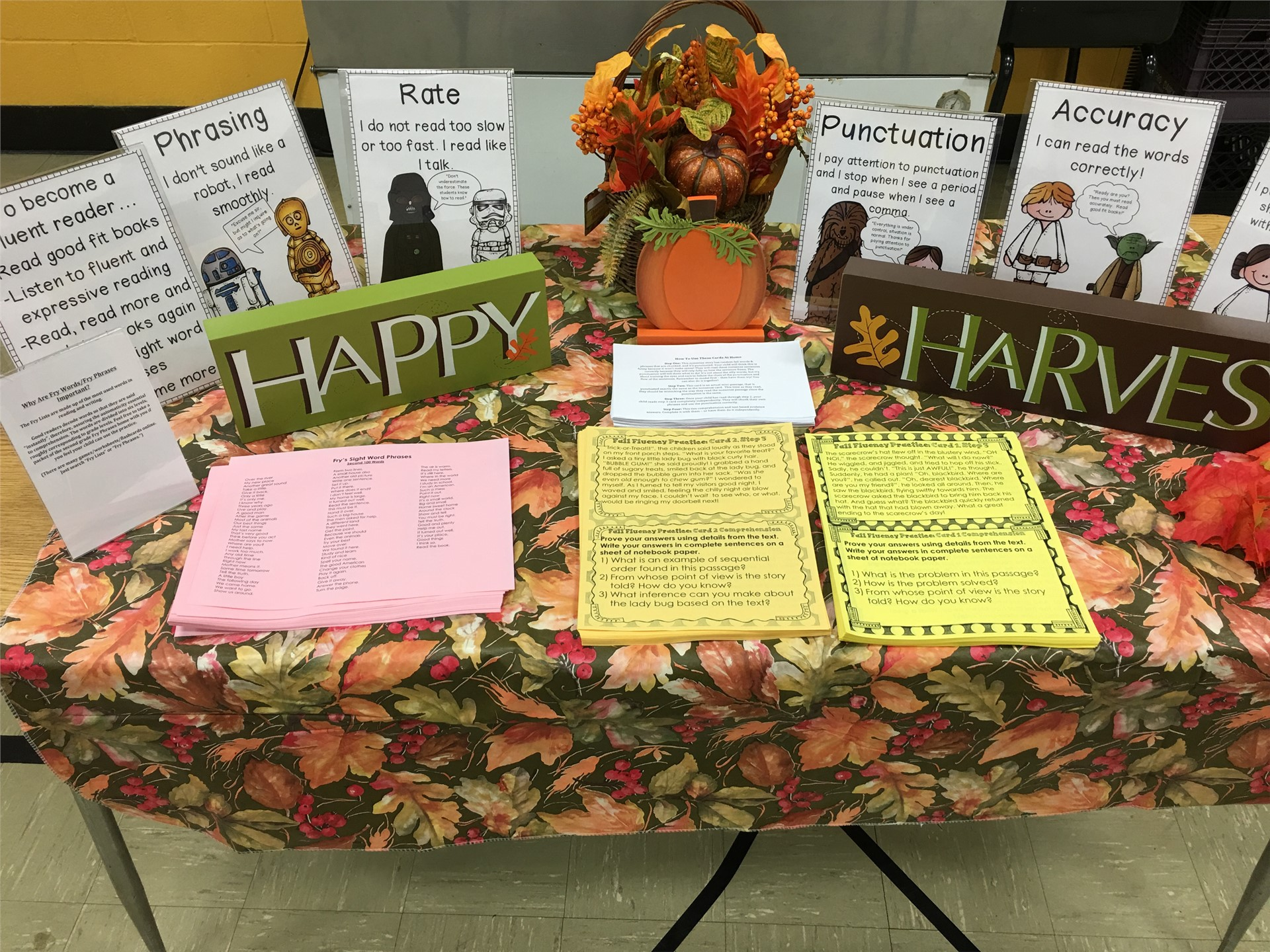 2nd Grade Fall Family Fluency
