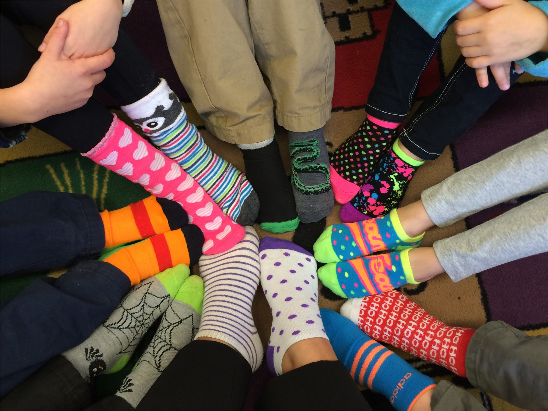 Silly Socks!!!! Can you guess whose are whose?