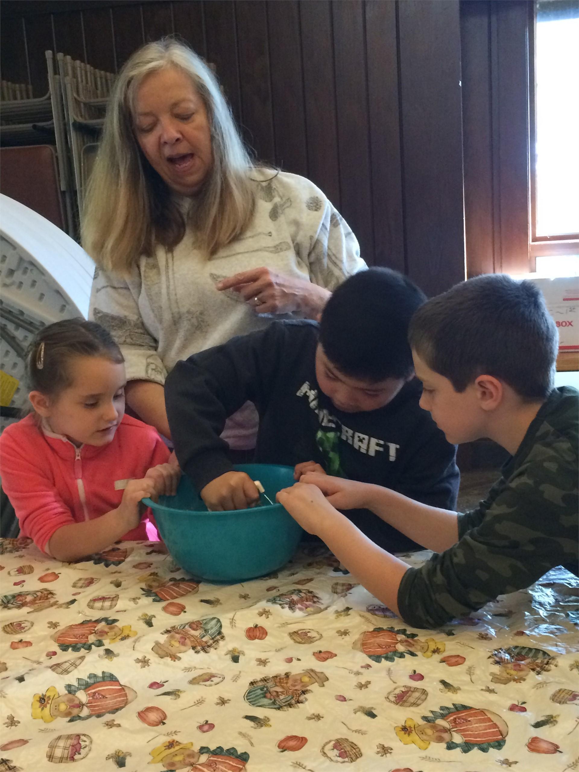 Making apple crisp!