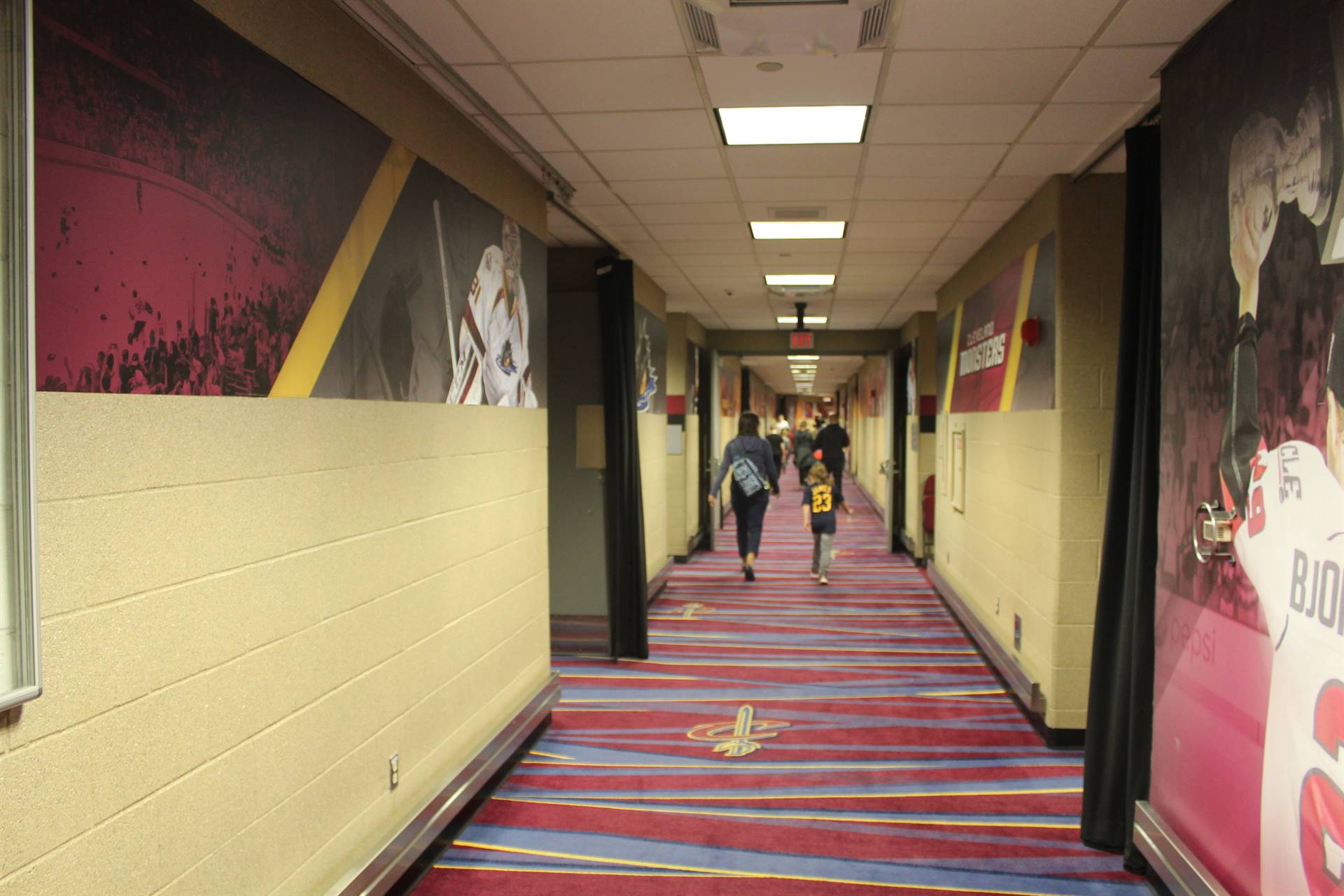 Hallway to the Locker room