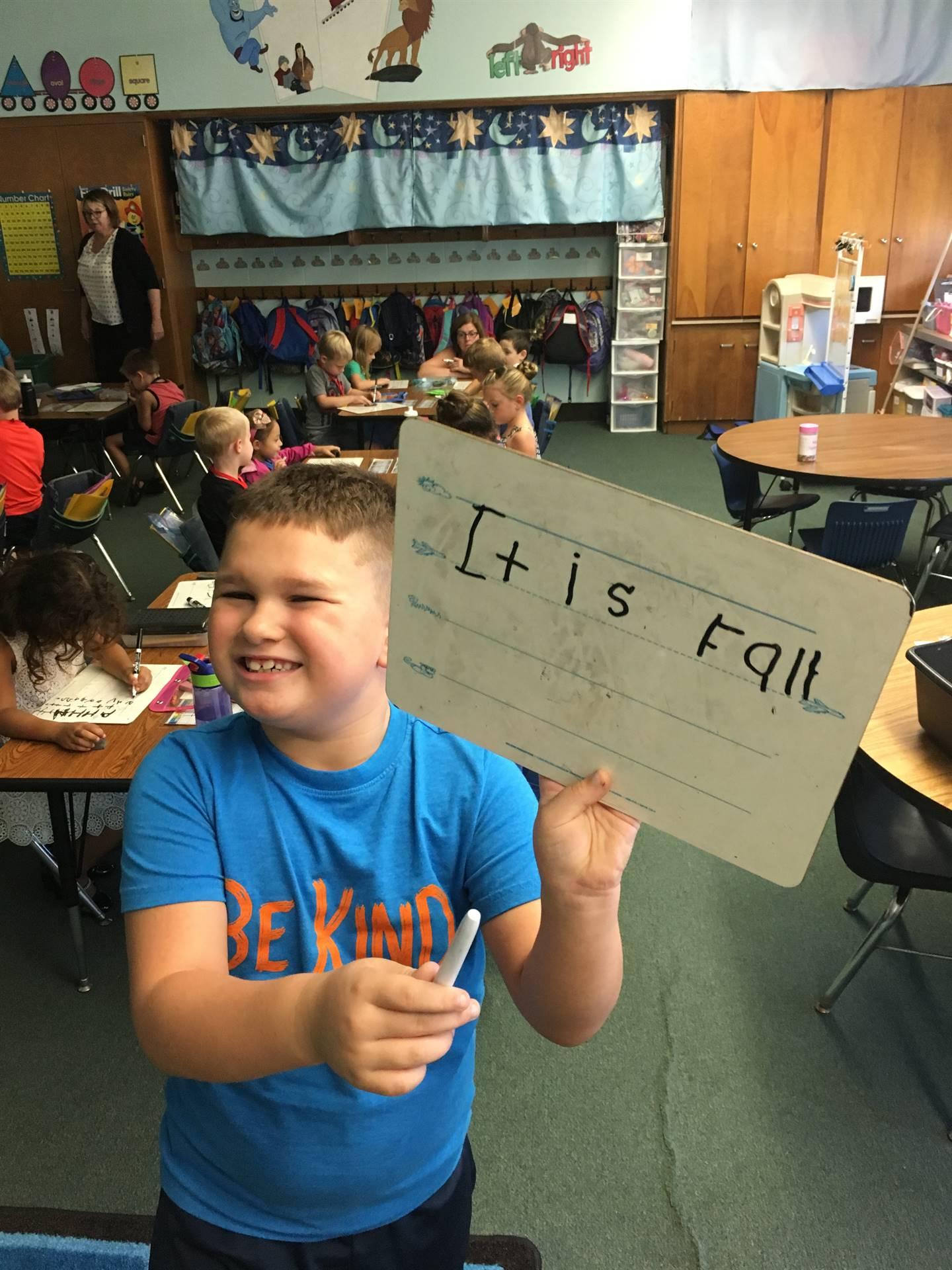 Shared Writing in Kindergarten!