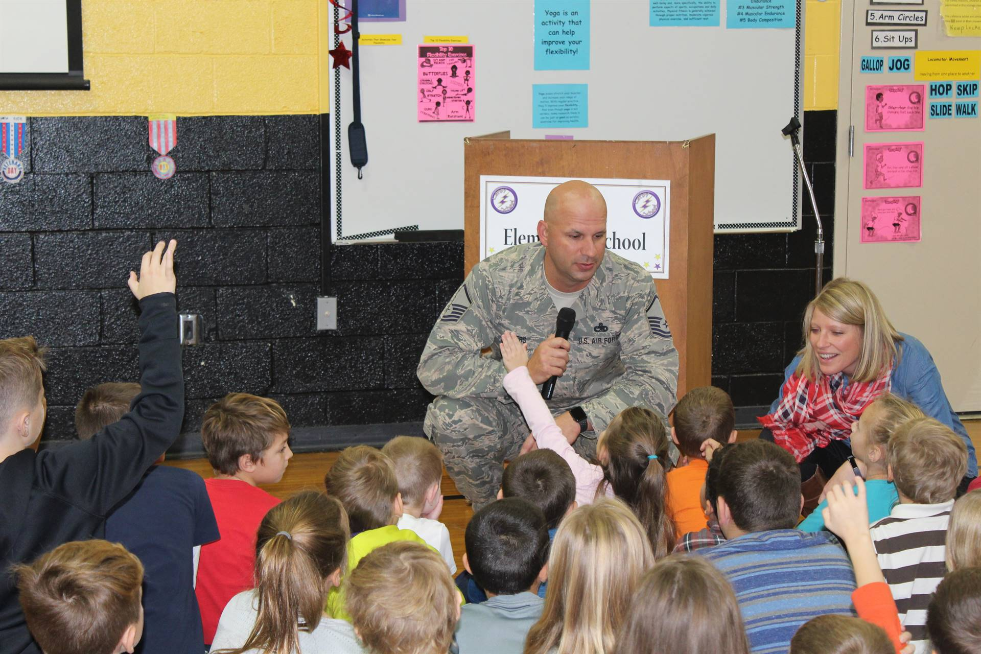 Master SGT Jeremy Rogers Shares Some Experiences With Leroy Students