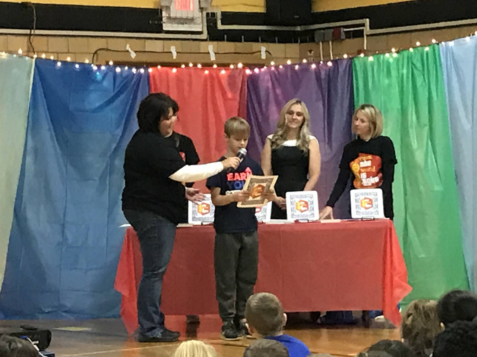 Be A Reader launch assembly