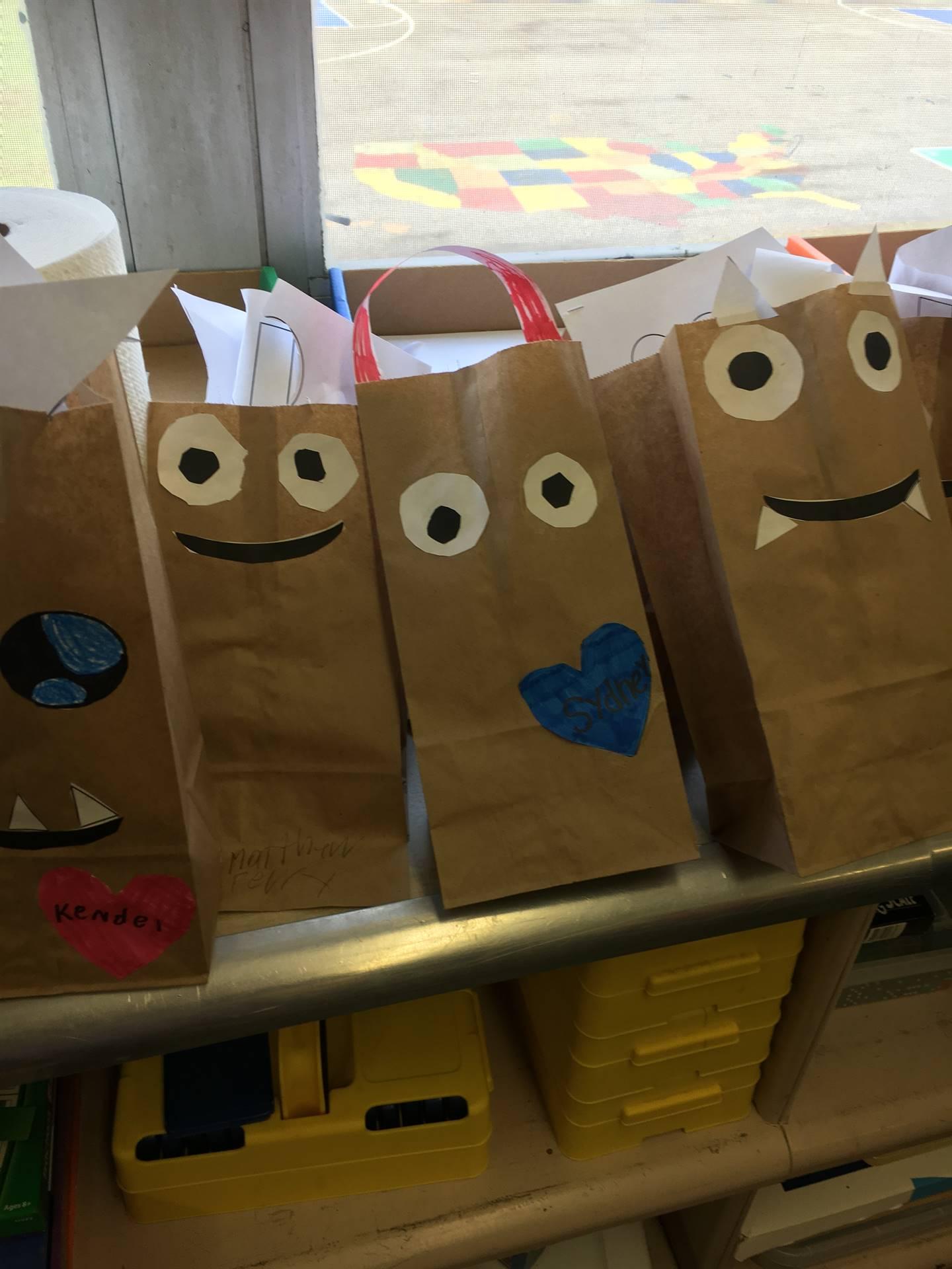 Valentine monster bags