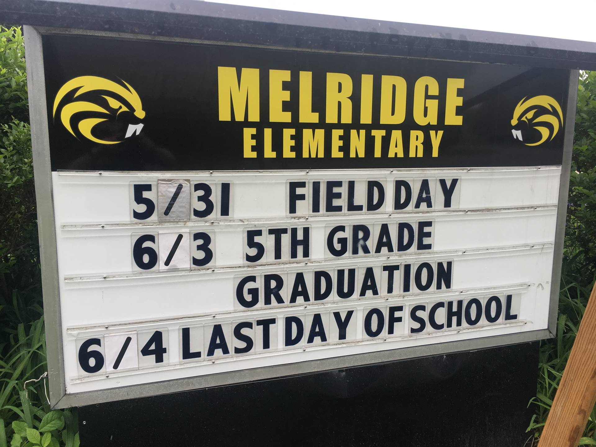 End of year Sign