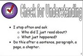 Reading Strategy:  Check for Understanding